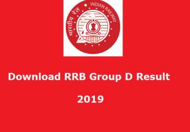 RRB Result – Group D Result 2019