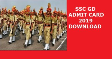 SSC GD Admit Card – GD Constable Admit Card 2019