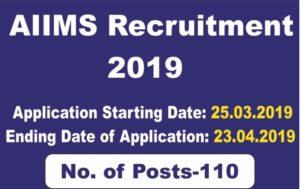 AIIMS Jodhpur – 110 Stenographer, Medical Officer & Various Vacancy