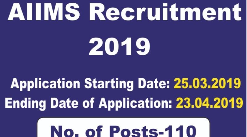 AIIMS Jodhpur – 110 Stenographer, Medical Officer & Various Vacancy