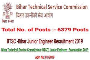 BTSC Recruitment 2019 - 6379 Junior Engineer Posts