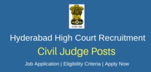 High Court of Telangana State Recruitment 2019 – 67 Civil Judge Vacancy