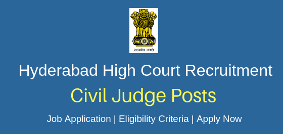 High Court of Telangana State Recruitment 2019 – 67 Civil Judge Vacancy