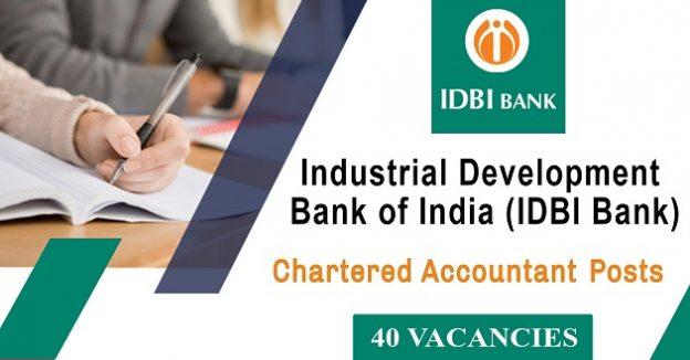 IDBI Bank Recruitment – 40 Chartered Accountants Vacancy