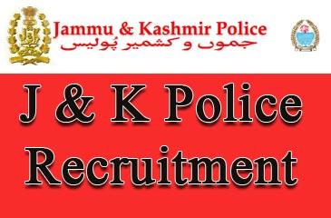 JK Police Recruitment – 1350 Constable Vacancy