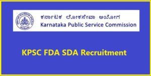 KPSC-FDA-SDA-Recruitment