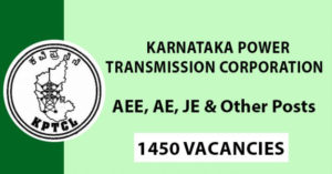 KPTCL Recruitment 2019 – 1450 AEE, AE, JE, Junior Assistant & Various Vacancy