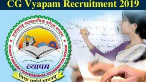 Chhattisgarh Professional Examination Board (CGVYAPAM) -14428 Lecturer & Teacher Vacancy